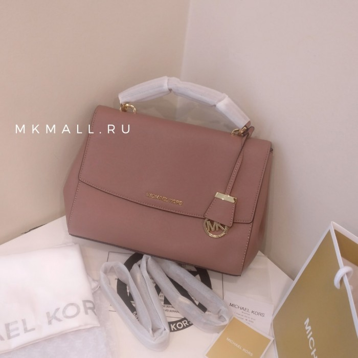 Сумка MICHAEL KORS  Ava Extra-Small Leather Crossbody Нежно-розовая