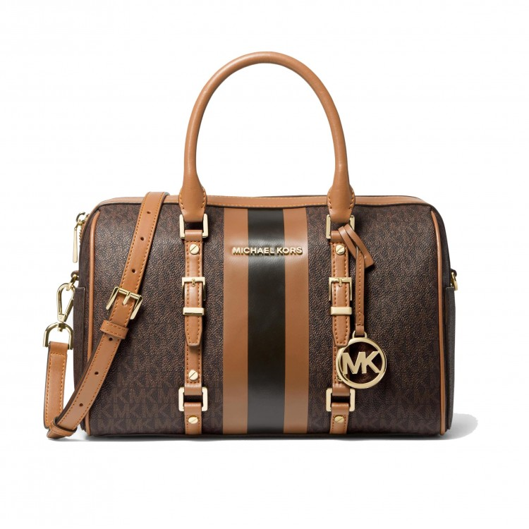 Сумка Michael Kors Bedford Color-Block Коричневая