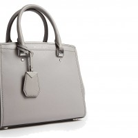 Сумка MICHAEL KORS Benning  Medium Leather Satchel Серая