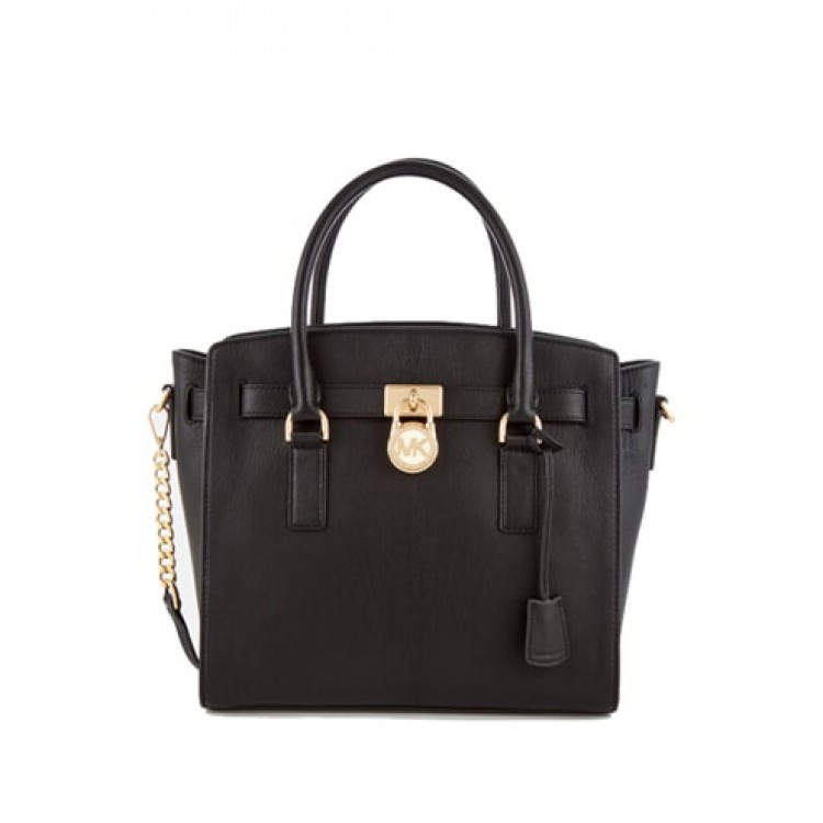 Сумка MICHAEL KORS Hamilton Small Leather Satchel Черная