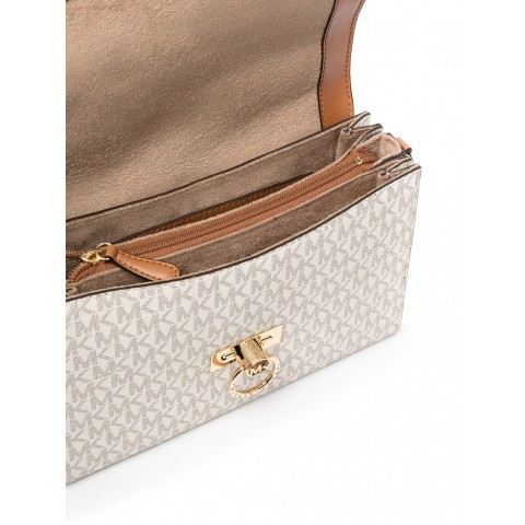 Сумка MICHAEL KORS Hendrix Medium Messenger monogram белая