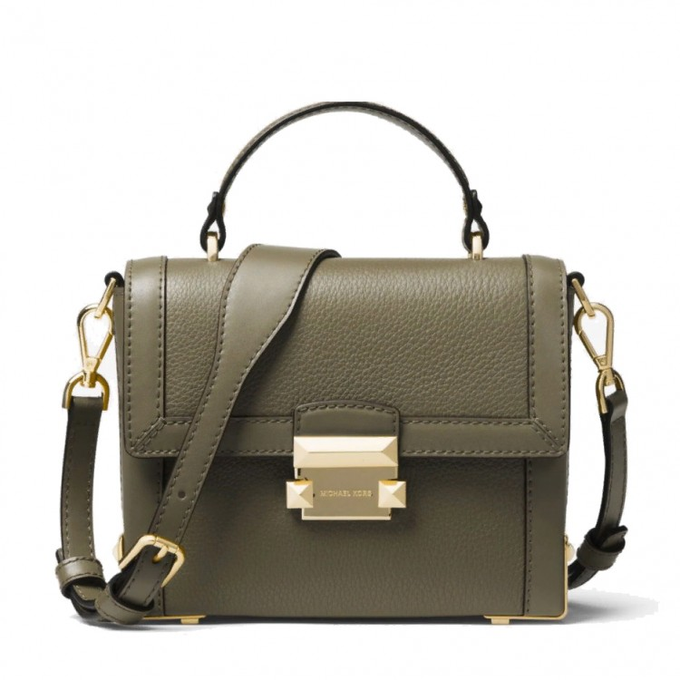 Сумка MICHAEL KORS Jayne Small Pebbled Trunk Оливковая