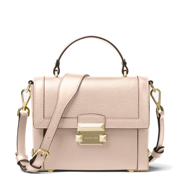 Сумка MICHAEL KORS Jayne Small Pebbled Trunk Нежно-розовая