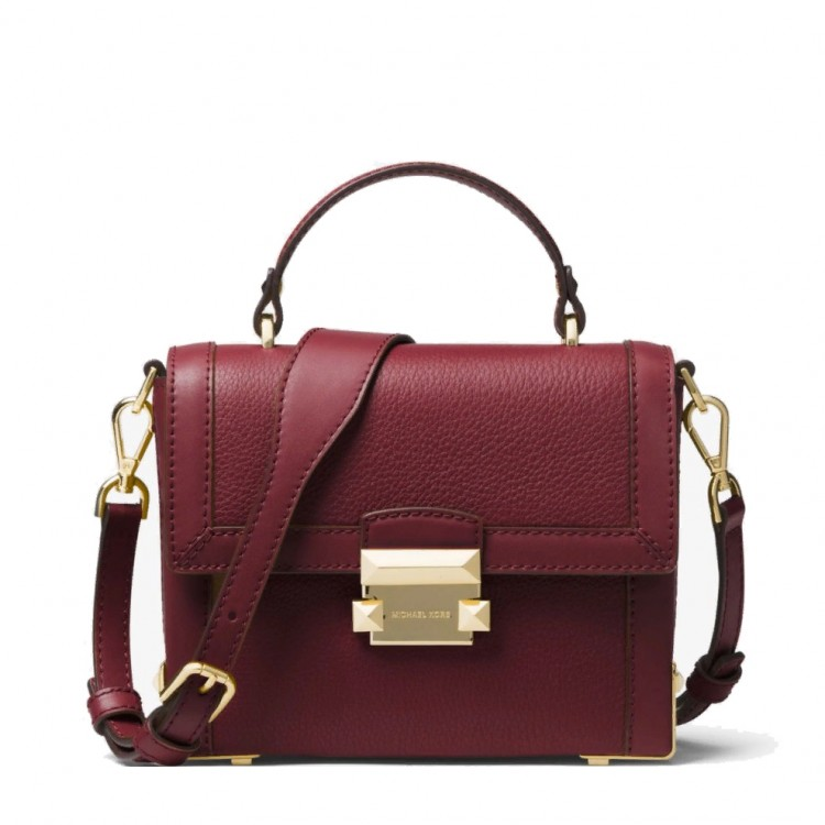 Сумка MICHAEL KORS Jayne Small Pebbled Trunk Вишневая