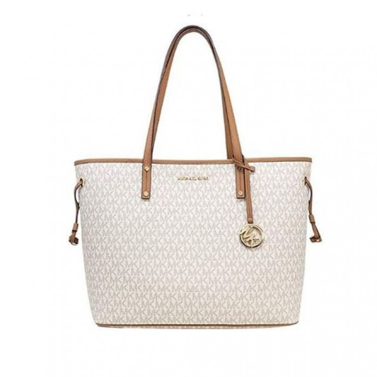 Сумка MICHAEL KORS Jet Set Logo Satchel Белая