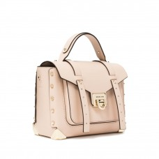 Сумка MICHAEL KORS Manhattan Medium Leather Satchel Нежно-розовая