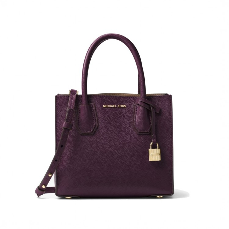 Сумка MICHAEL KORS Mercer Medium Leather Чернослив