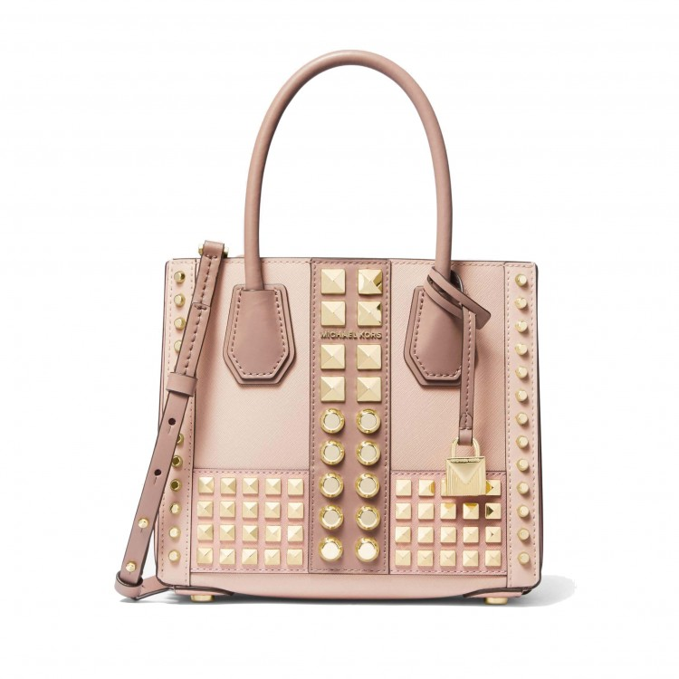 Сумка MICHAEL KORS Mercer Studded Crossbody нежно-розовая