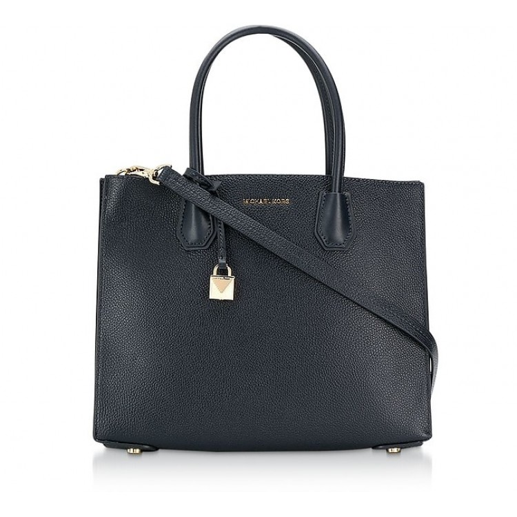Сумка MICHAEL KORS Mercer Large Tote Темно-синяя
