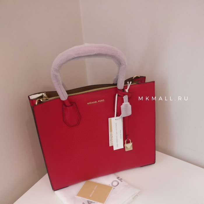 Сумка MICHAEL KORS Mercer Large Tote Красная