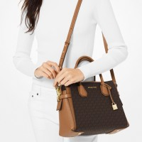 Сумка MICHAEL KORS Mercer Medium Logo Belted Коричневая