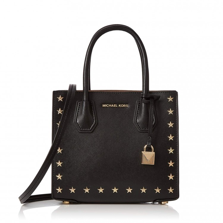 Сумка MICHAEL KORS Mercer Studded Leather Crossbody Черная