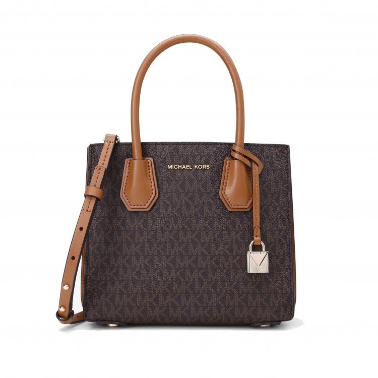 Сумка MICHAEL KORS Mercer Medium Logo Crossbody Коричневая