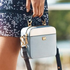 Сумка MICHAEL KORS Mott Mini Color-Block Crossbody Небесно-голубая