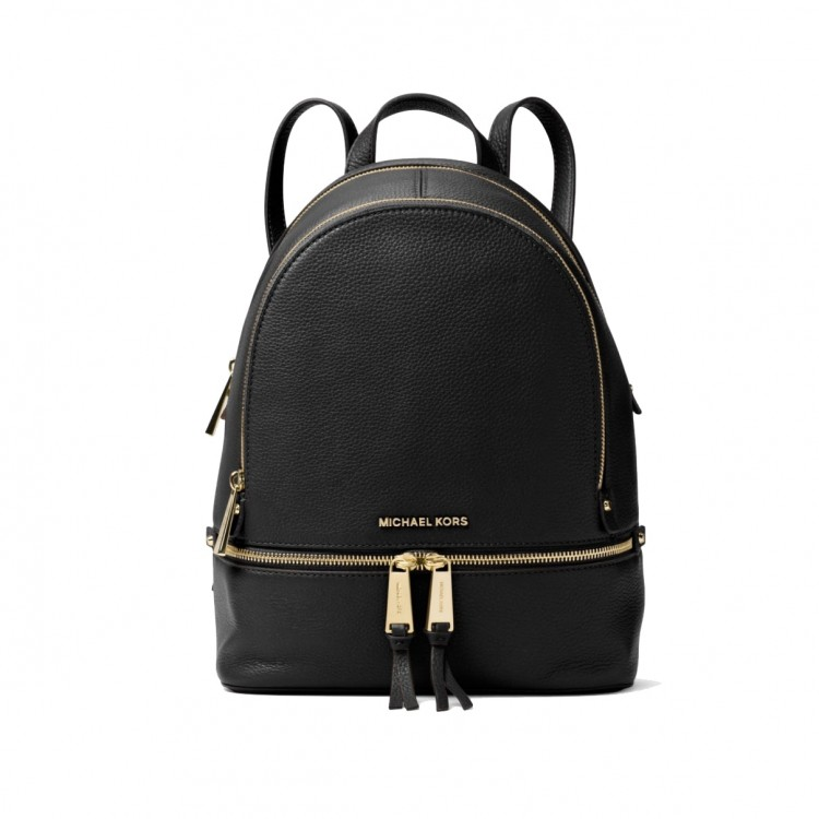 Рюкзак MICHAEL KORS Rhea Medium Leather Backpack Черный