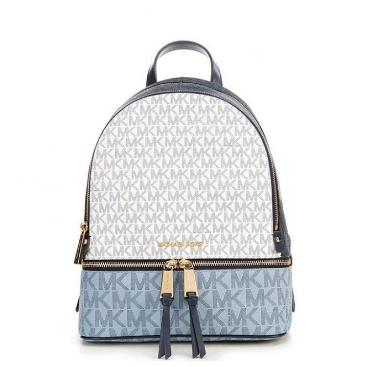Рюкзак Michael Kors Rhea Medium Logo Backpack Color-block синий