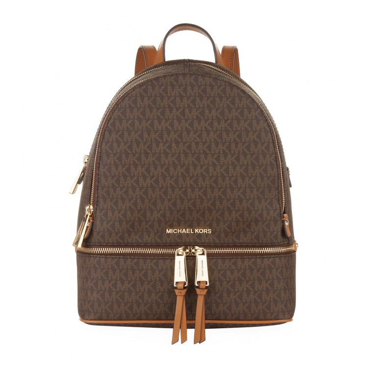 Рюкзак Michael Kors Rhea Medium Logo Backpack Коричневый