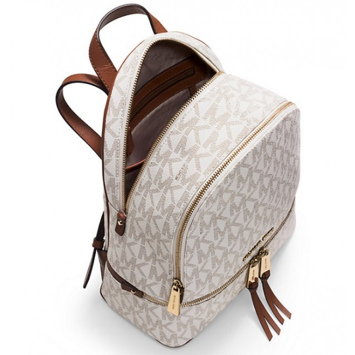 Рюкзак Michael Kors Rhea Medium Logo Backpack Белый