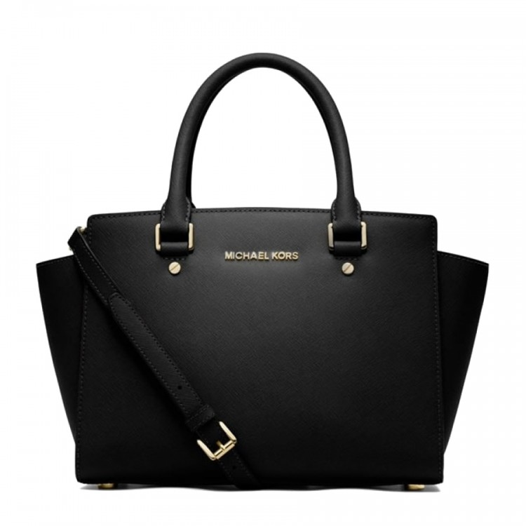 Сумка MICHAEL KORS Selma Medium Saffiano Черная