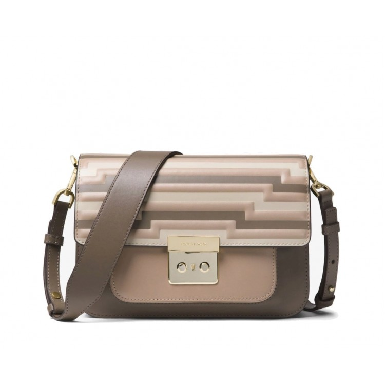 Сумка MICHAEL KORS Sloan Editor Tri-Color Leather Бежевая
