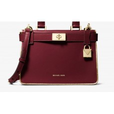 Сумка MICHAEL KORS Tatiana Mini Leather Satchel Вишневая